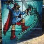 Thor kämpft gegen die Mitgardschlange